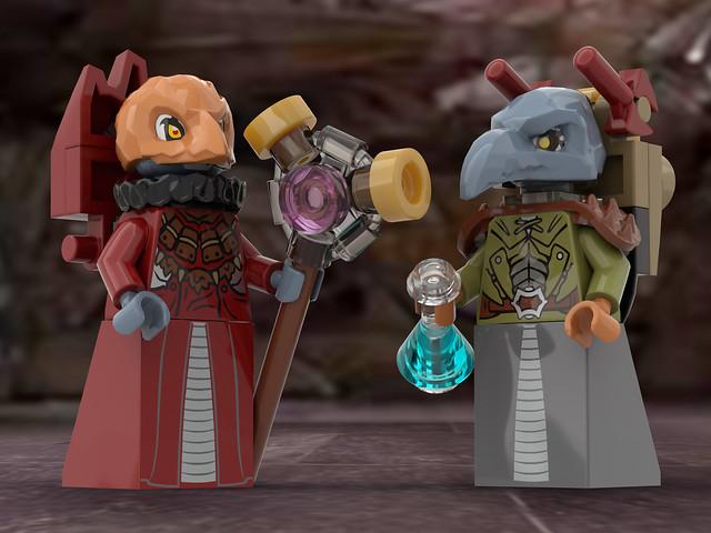 lego Skeksis minifigures (concept)