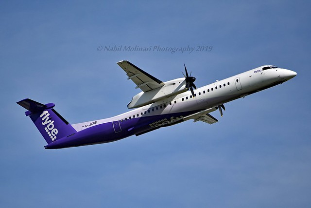 Flybe G-JECP Bombardier DHC-8-402Q Dash 8 cn/4136 Incident 23 Feb 2017 at AMS right-hand main gear collapsed on landing returned to service 9 Sep 2018 @ EGLL / LHR 14-05-2019