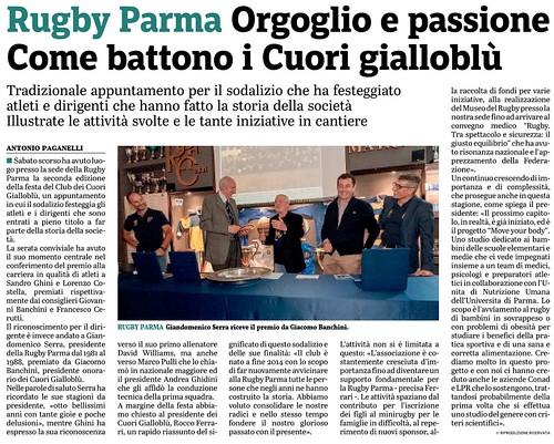Gazzetta di Parma 16.10.19 - La grande festa del rugby