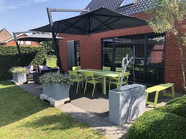 private garden terrace Zele Belgium