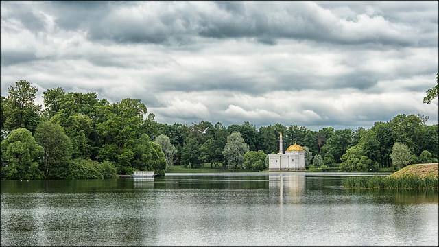 Pushkin, il Palazzo di Caterina, Tsarskoe Selo , the park  ...