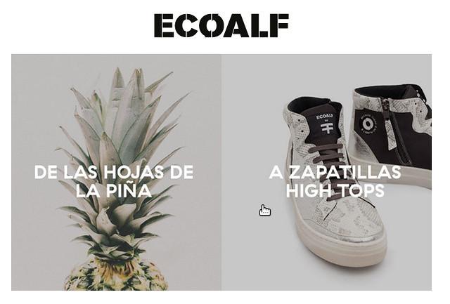 Zapatillas hechas con piña de Ecoalf. Piñatex