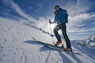 praktické testování skialpinistického vázání