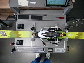 Testování skialpinistického vázání