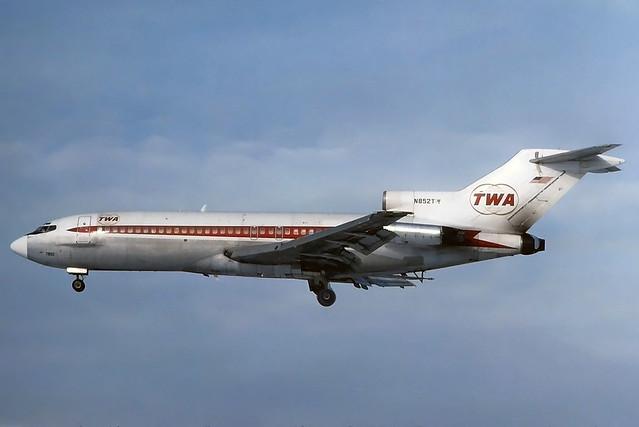 N852TW TWA 727-031 at KCLE