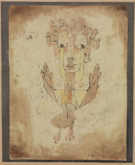 PAUL KLEE Angelus novus 1920 Jerusalem The Israel Museum variante Uti 465