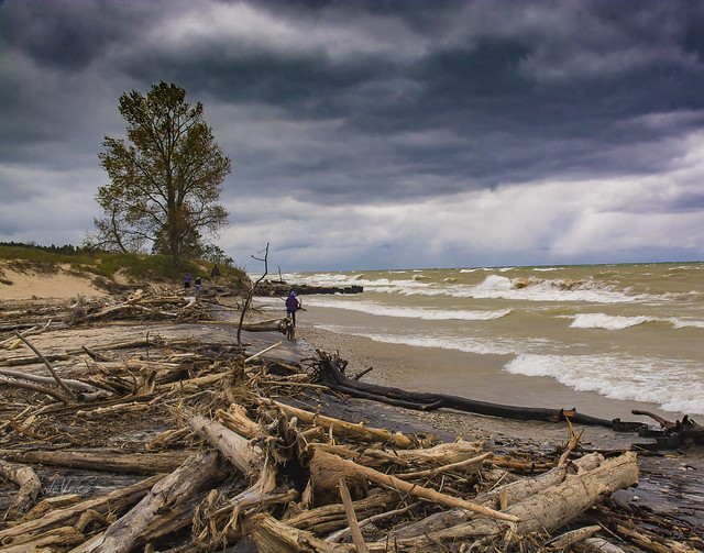 Looking south from Point Betsie . . .