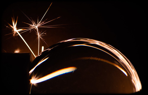 The Sparkler and the glass Orb. . .