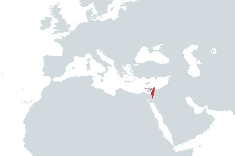 Israel y Palestina MAP