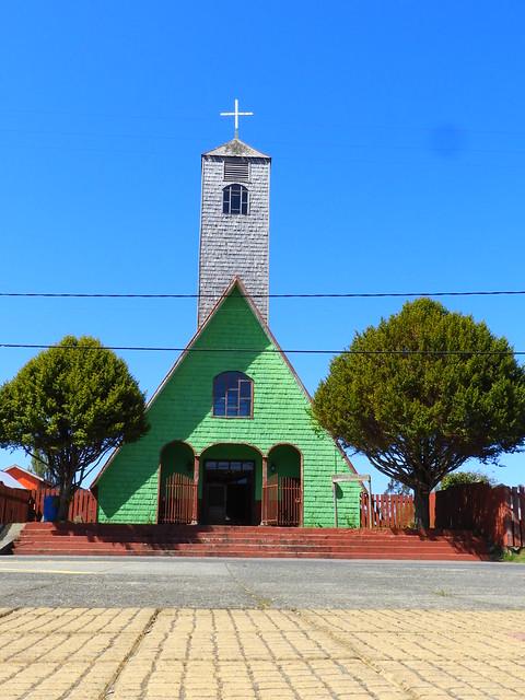 Iglasia San Judas Tadeo, Curaco de Velez, Chiloé, Chile.