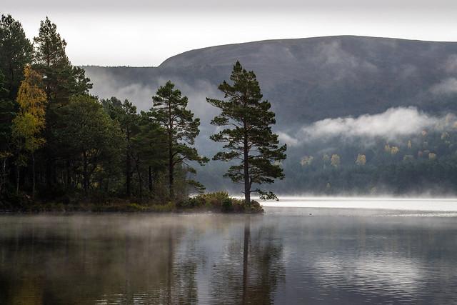 Calm waters at Loch an Eilein