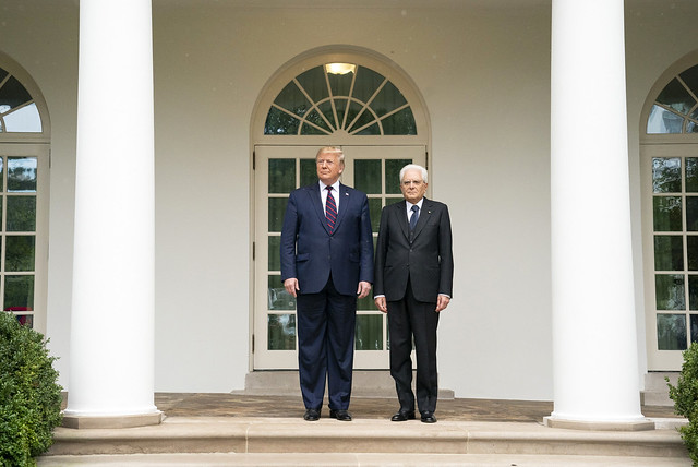 President Trump Meets With the President of the Italian Republic