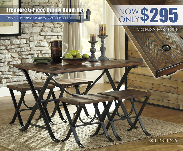 Freimore 5PC Dining Set Update_D311-225