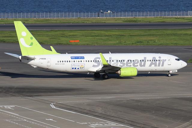 JA809X  -  Boeing 86N (WL)  -  Solaseed Air  -  HND/RJTT 9/10/19