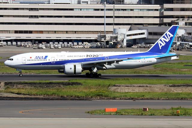 JA744A  -  Boeing 777-281ER  -  All Nippon Airways  -  HND/RJTT 9/10/19