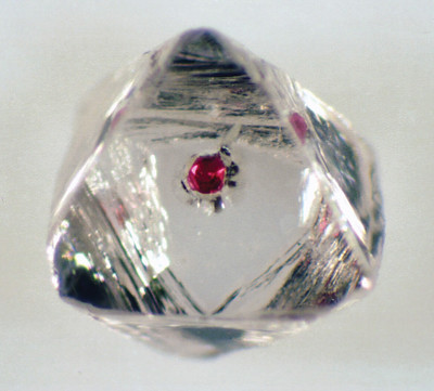 red garnet in diamond