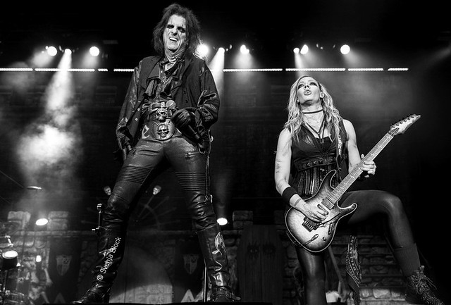 Alice Cooper with Nita Strauss