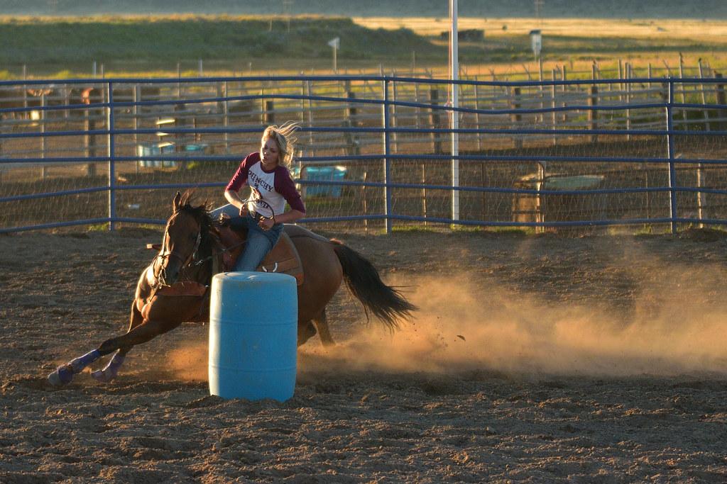 Barrel race in Bryce