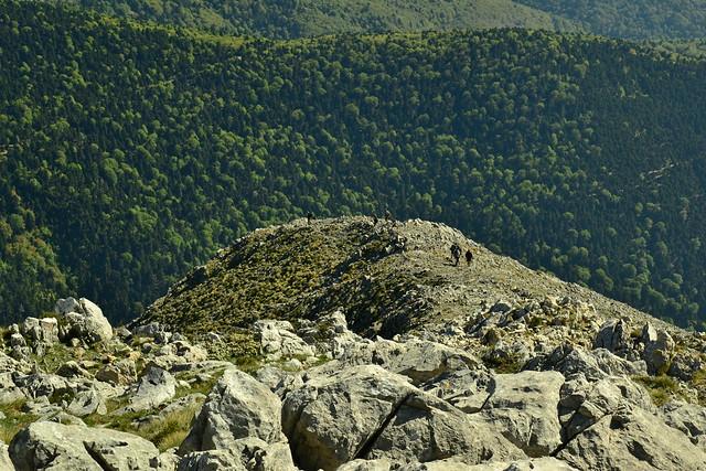 Ορειβάτες στη θέση Κουτουρνάκια