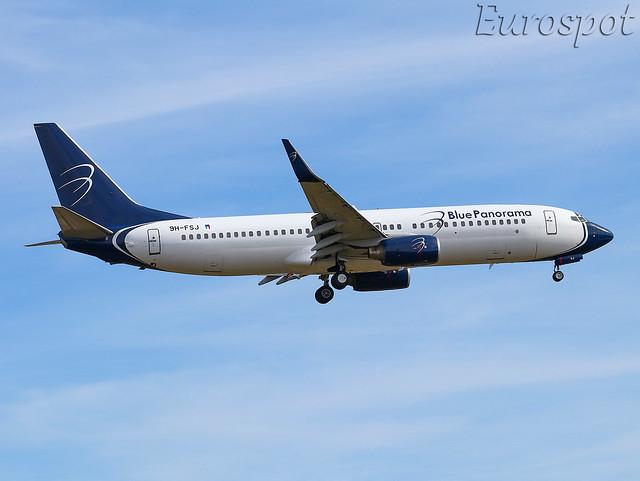 9H-FSJ Boeing 737 Blue Panorama