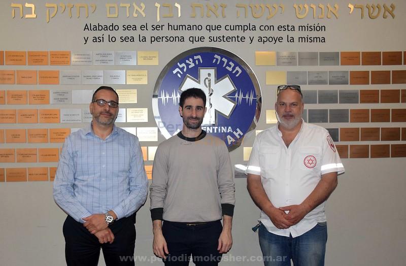 El candidato a legislador Adrián Royffer visitó la base de Hatzalah Argentina