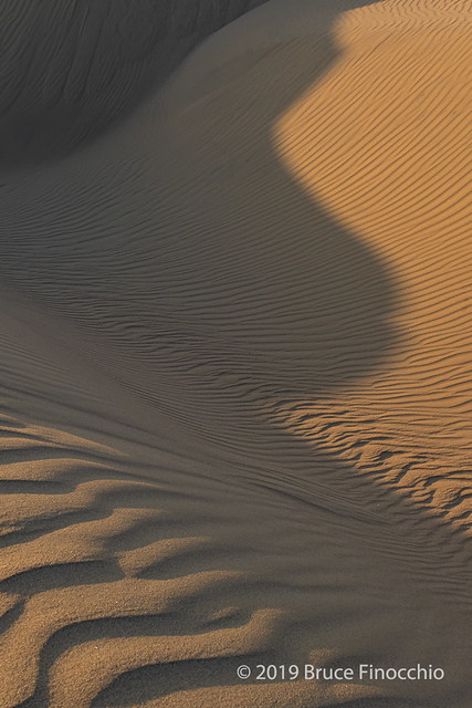 Light Patterns On The Oceano Sand Dunes