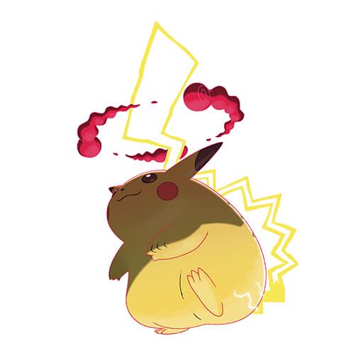 Gigantamax Pikachu Official Art