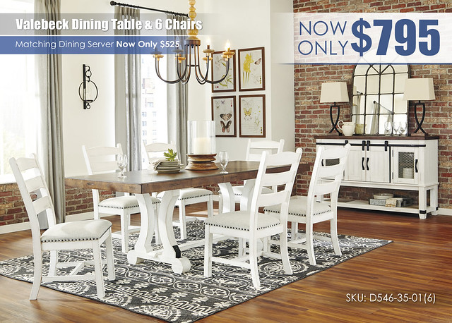 Valebeck Dining Table and 6 Chairs_D546-35-01(6)-60