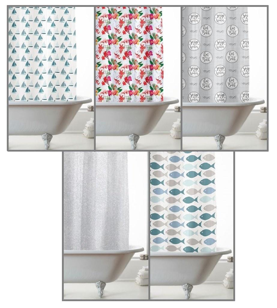Details About Waterproof Bathroom Shower Curtain W Ring Hooks 180x180cm Glitter Eva Peva