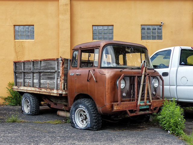 Rusty Willys Jeep FC Forward Control COE Stake Truck