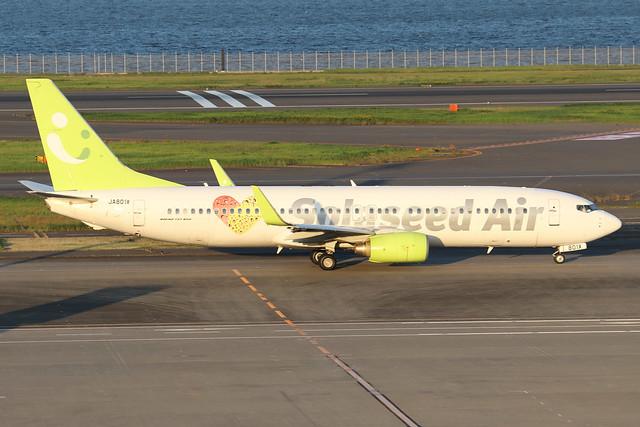 JA801X  -  Boeing 86N (WL)  -  Solaseed Air  -  HND/RJTT 9/10/19