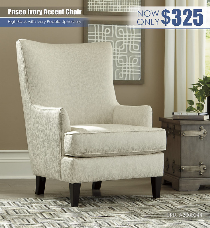 Paseo Ivory Accent Chair_A3000044
