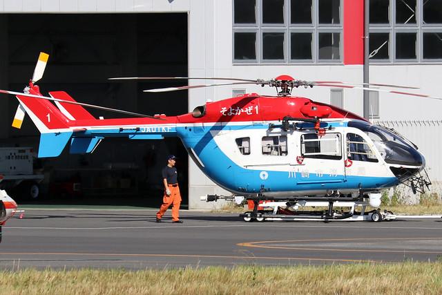 JA01KF  -  Airbus Helicopters H145  -  Kawasaki City Fire Dept  -  RJTI 9/10/19