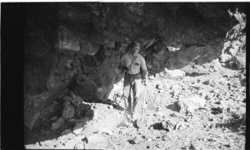 """Professor Theodore """"Ted"""" Stern at Paisley Cave #1 (Oregon, USA) 1966"""