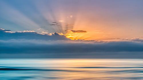 sunrise spring cronulla beach sydney australia seascape