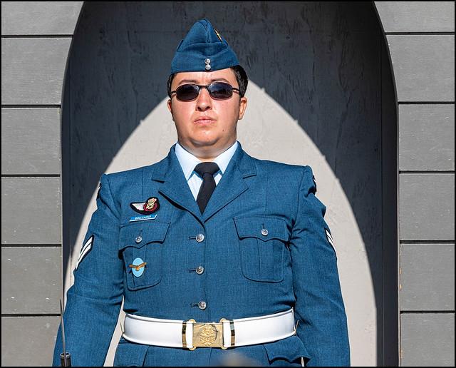 Corporal Ballard on Guard