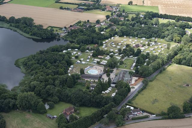 Aerial image: Broad Farm Campsite in Fleggburgh - Norfolk UK