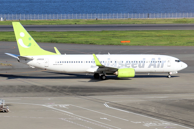 JA803X  -  Boeing 86N (WL)  -  Solaseed Air  -  HND/RJTT 9/10/19
