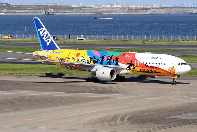 JA741A  -  Boeing 777-281ER  -  All Nippon Airways (Tokyo 2020 decals) -  HND/RJTT 9/10/19