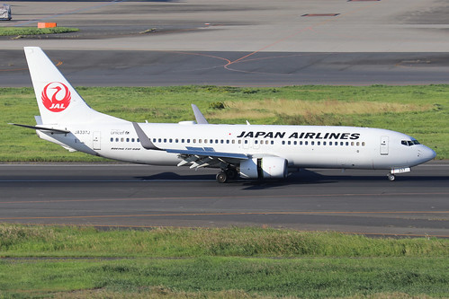 JA337J  -  Boeing 737-846 (WL)  -  Japan Airlines  -  HND/RJTT 9/10/19 | by Martin Stovey
