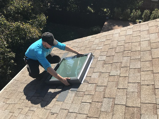 Our 31 year old plastic sky light cracked and we have had to replace it.  This time with a Velux skylight.