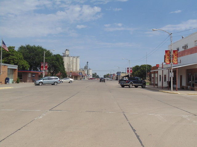 9. Downtown Sublette, the County Seat of Haskell County, 7-25-19