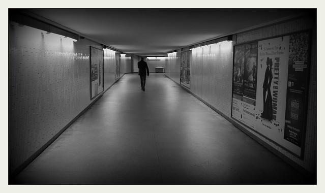 Allein im Tunnel...