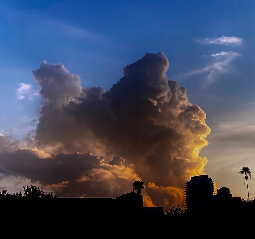 Storm Clouds at Sunset over St. Petersburg, Florida