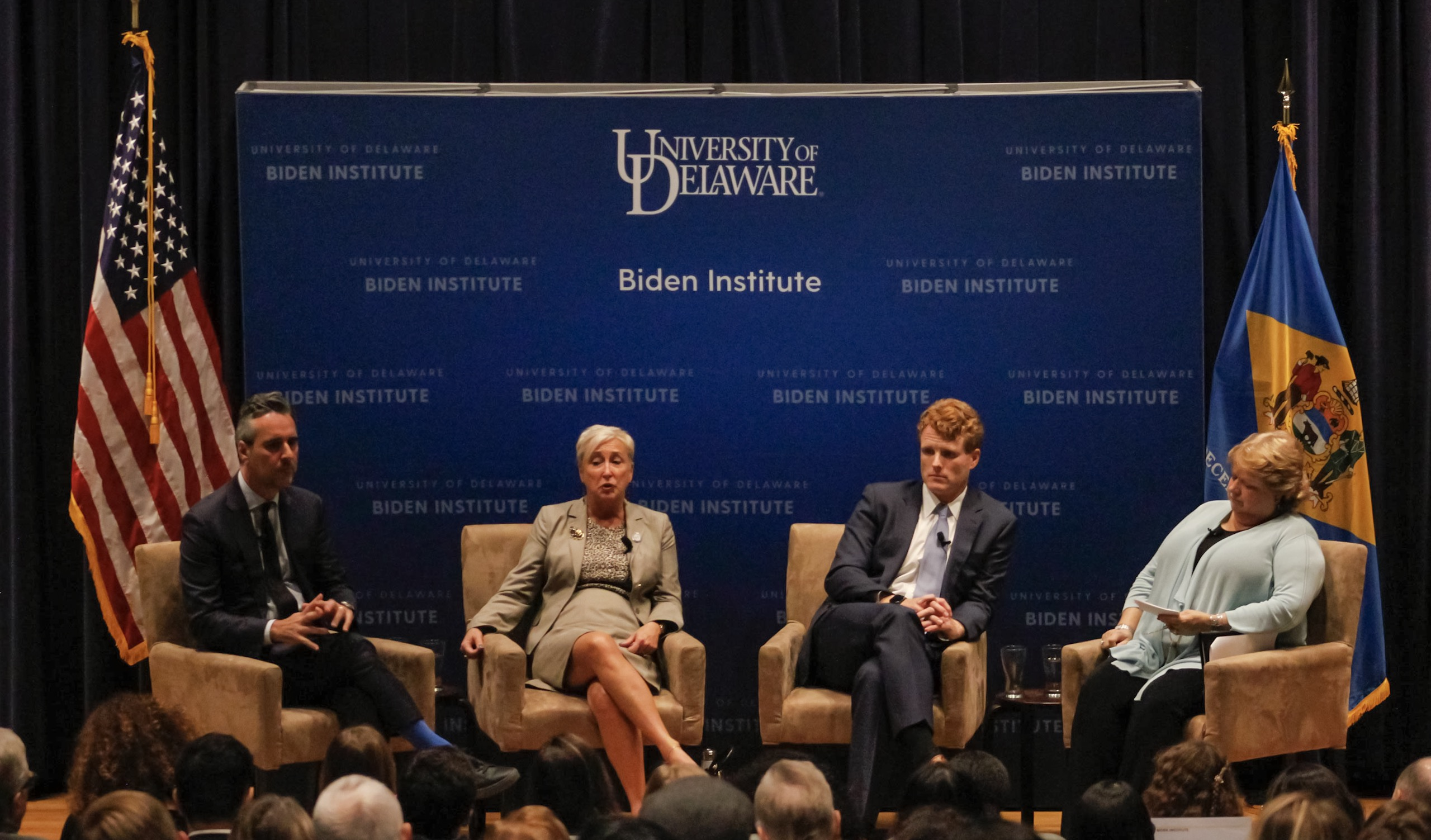 Rep. Joe Kennedy takes center stage at Biden Institute event