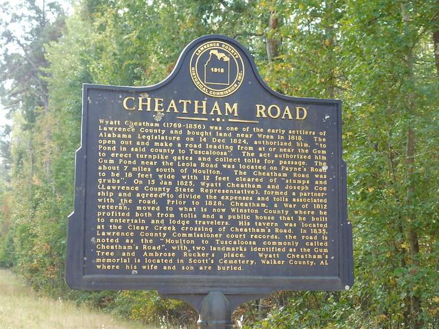 Cheatham Road Historic Marker
