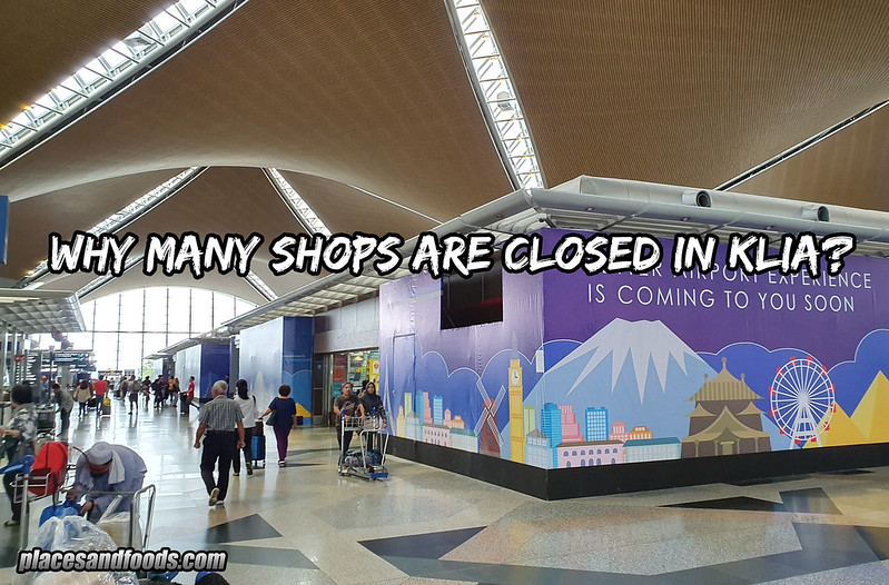 klia closed shops