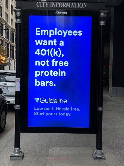 Werbetafel in Chicago - Anzigentafel für Guideline