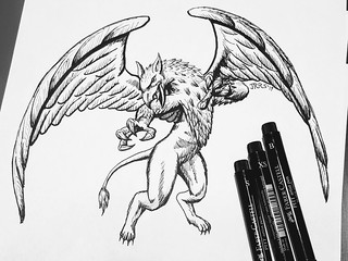 Inktober: Gryphon | by Saber-Scorpion
