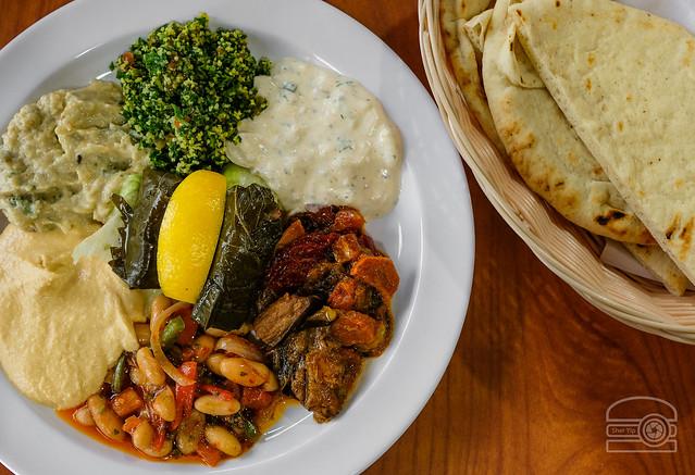 Combo Appetizer w/ Ezme, Hummus, Shaksuka, Dolma, Babaganos, Tzatziki, Piyaz - Istanbul Restaurant